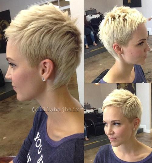 Blonde Pixie Fauxhawk
