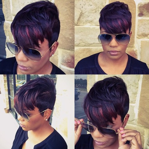 Super Short Hair With Bangs 40 Seriously Stylish Looks Short Hairstyles For Black Women Fulllsitofus