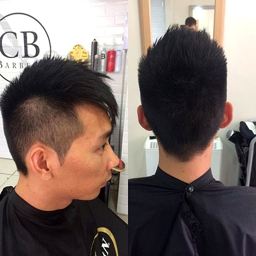 Asian men undercut hairstyle