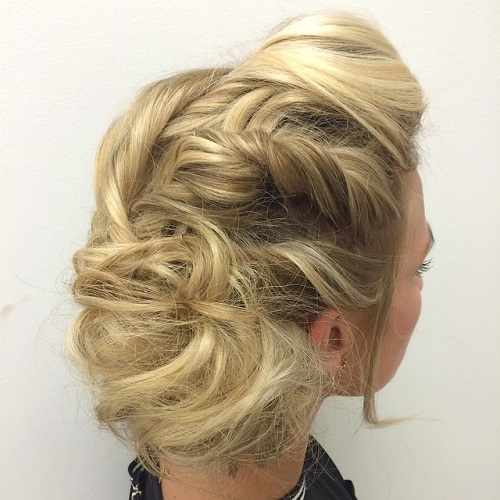 Blonde Tousled Updo