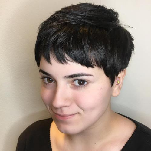 Choppy Pixie With Cropped Bangs