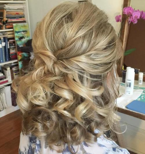 Wedding Hairstyles Down Curly: 50 Half Up Half Down Hairstyles For Everyday And Party Looks