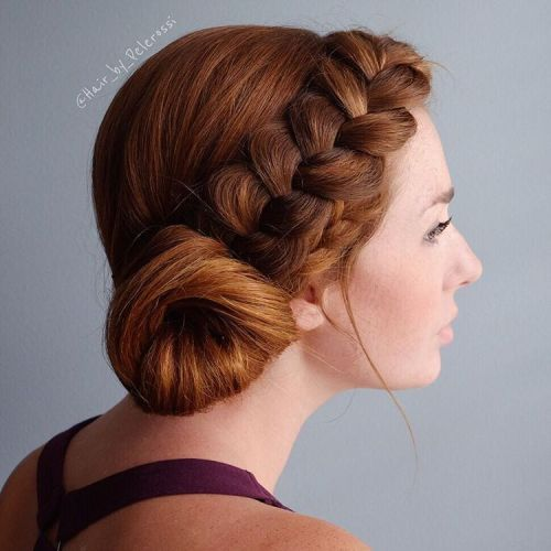 Headband Braid With Side Bun