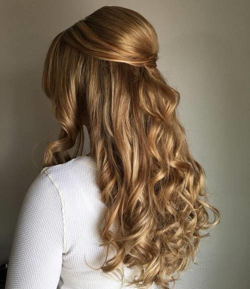 Swell 45 Fabulous Half Updos New Styling Ideas Short Hairstyles Gunalazisus