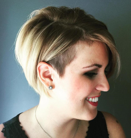 bob with temple undercut