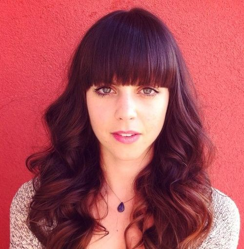 Awe Inspiring 40 Cute Styles Featuring Curly Hair With Bangs Hairstyle Inspiration Daily Dogsangcom