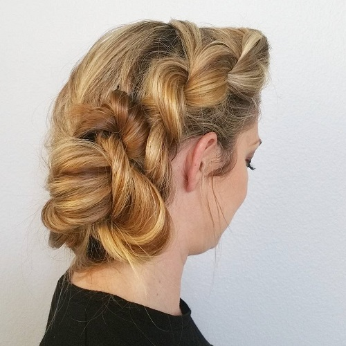 Messy Twist And Twisted Side Bun