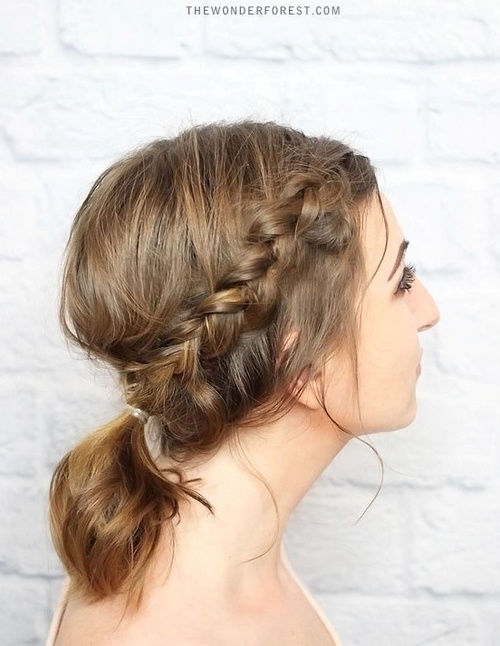 20 easy updos for medium hair braided updo and pony for medium hair pmusecretfo Choice Image