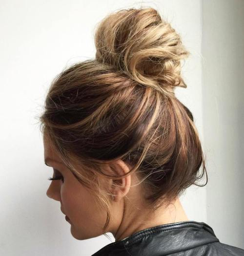 Messy Top Knot Updo