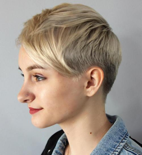 Tapered Blonde Pixie For Girls