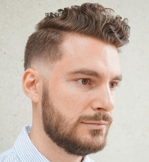 Curly Long Top Short Sides Hairstyle