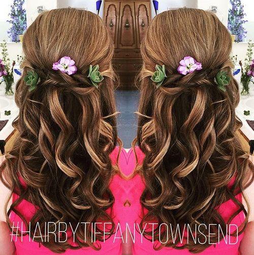 15 Latest Half Up Half Down Wedding Hairstyles For Trendy: Updates On 2017 Half Up Half Down Hairstyles: Latest Ideas