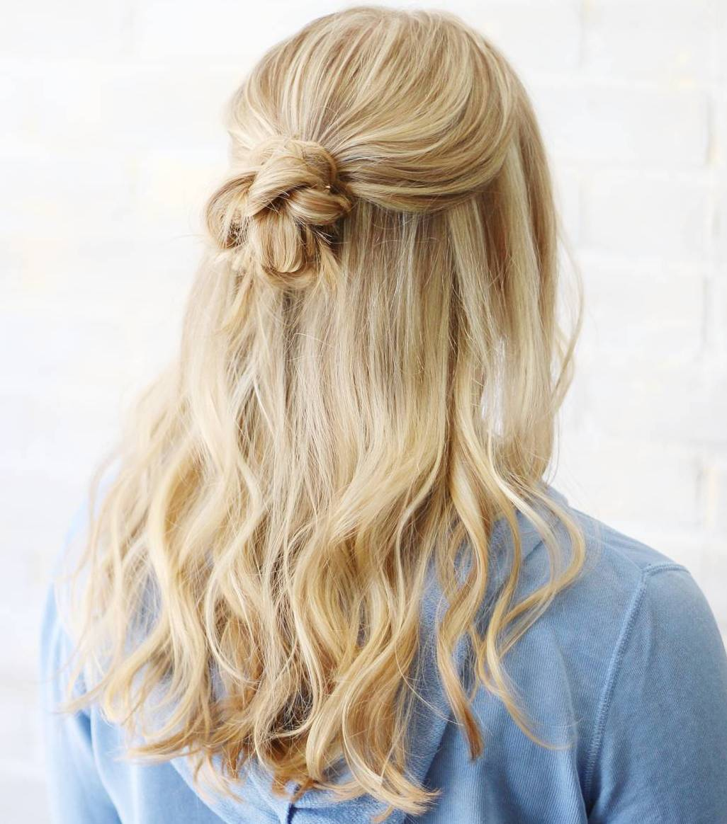 Half Up Half Down Casual Hairstyle