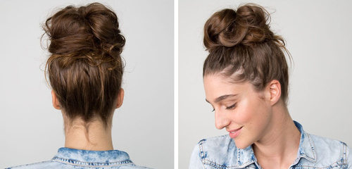 30 Quick and Easy Updos for Long Hair easy messy bun updo for long hair