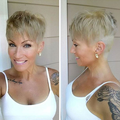 extra short blonde hairstyle