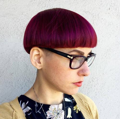 hipster bowl cut for girls