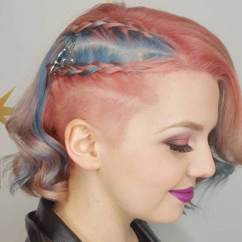 Pastel Pink Bob With Side Undercut