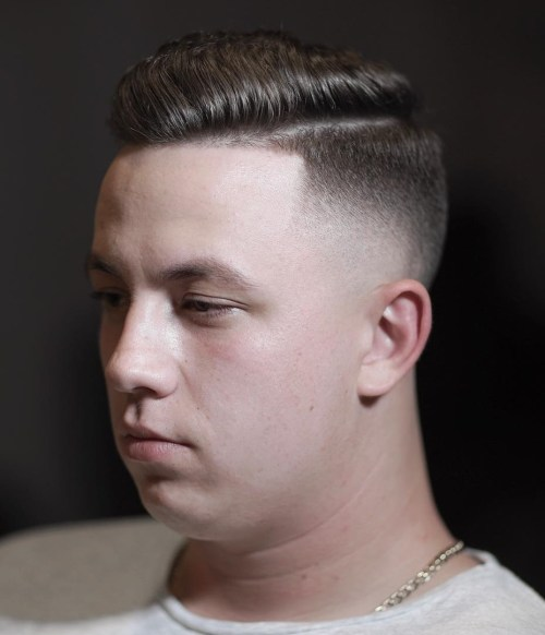 Side Part Fade Combover