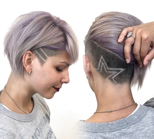short bob with asymmetrical undercut