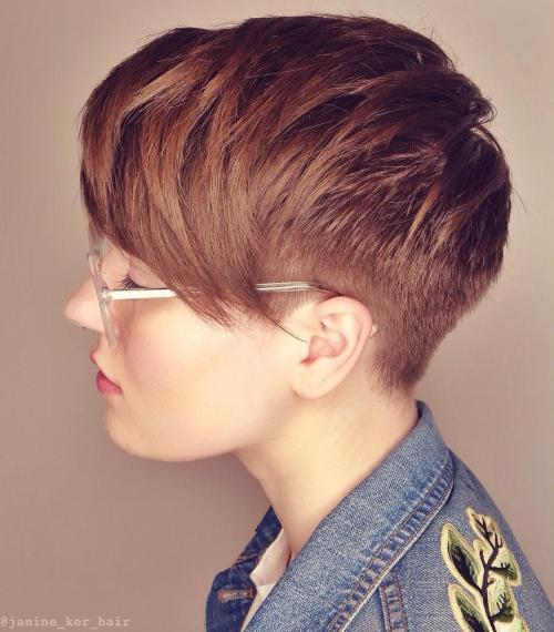 Short Layered Auburn Haircut