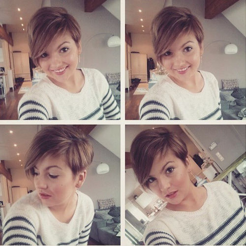 pixie haircut with side bangs