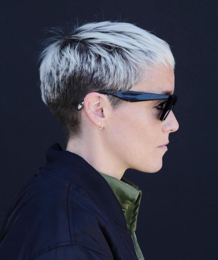 Tapered Bleached Pixie