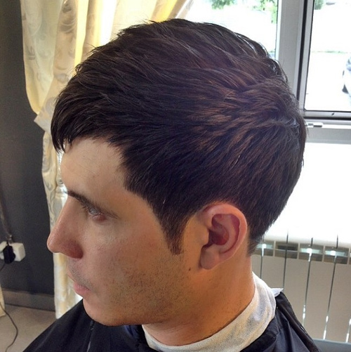 men's short layered haircut