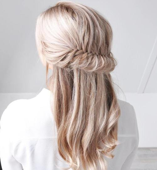 Fishtailed Half Updo
