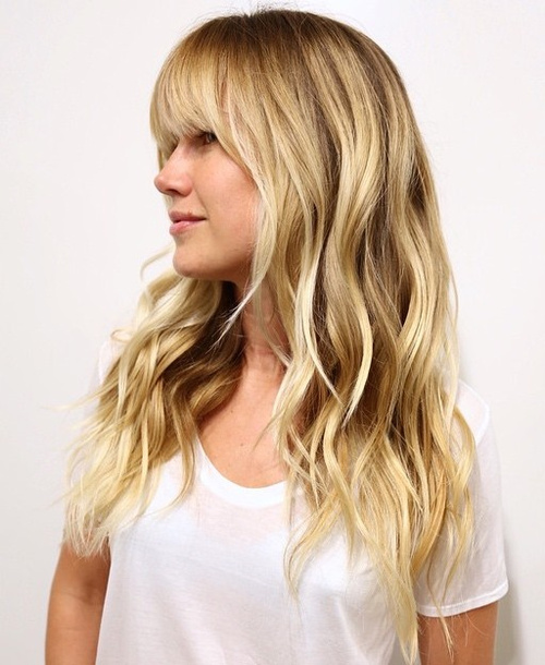 Cute Hairstyles For Long Thick Wavy Hair : 50 cute long layered haircuts with bangs 2017