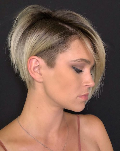 Undercut Long Pixie With Bangs