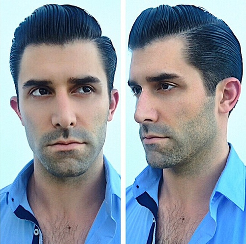 gelled hairstyle for men