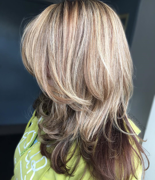 Blonde Layered Balayage Hair