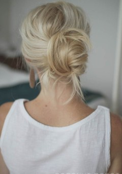 easy chignon updo for long hair
