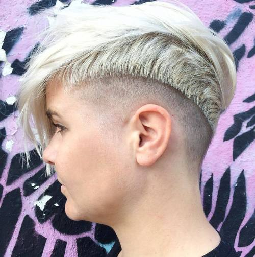 extra short women's haircut with bangs