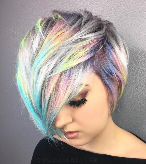 Gray Pixie Bob With Pastel Highlights