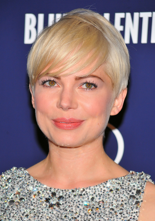 short blonde fringe hairstyle