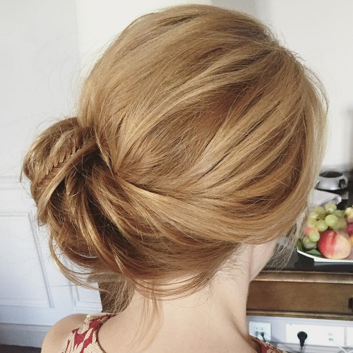 Side Bun With A Braid