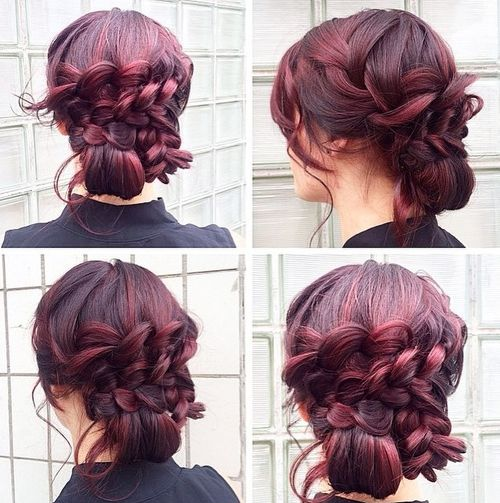 lace braids updo