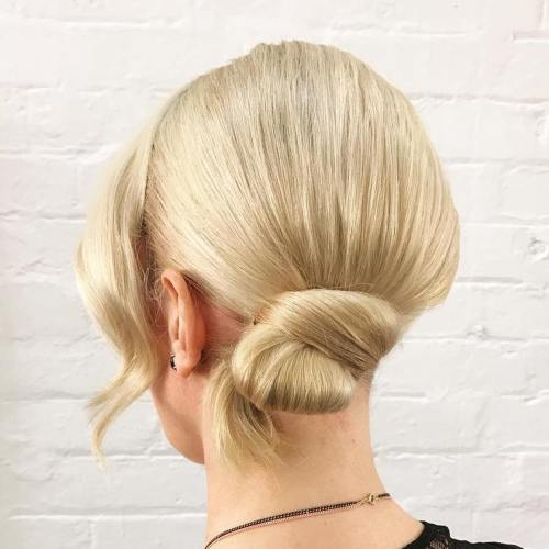 Low Side Knot For Medium Hair