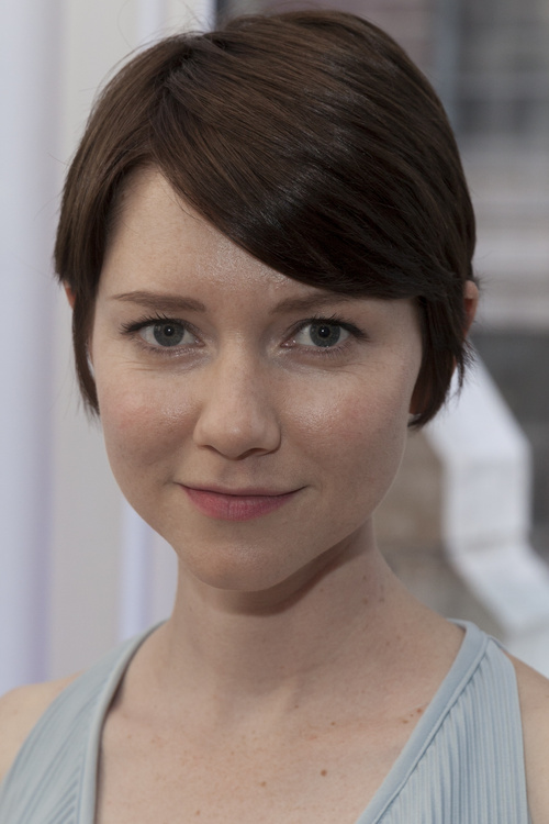 short sleek A-line fringe hairstyle