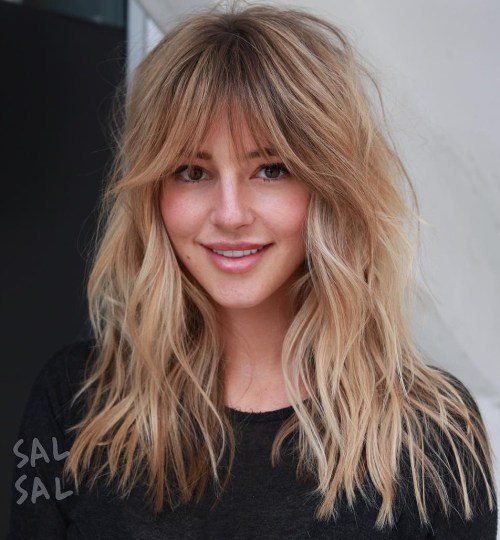 50 Cute Long Layered Haircuts With Bangs 2020