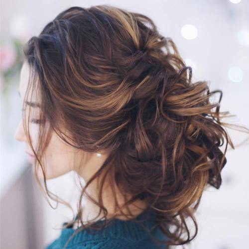 Messy Loose Curly Bun