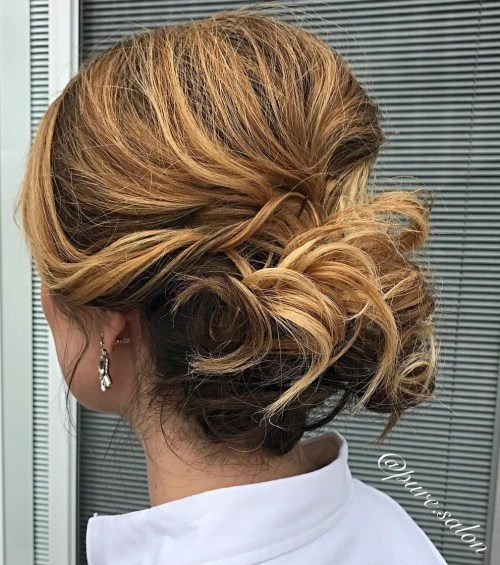 Chignon Updo For Shorter Hair