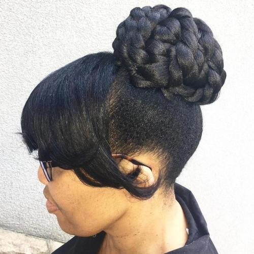 Formal Black Braided Bun