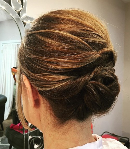 Formal Updo For Shorter Hair