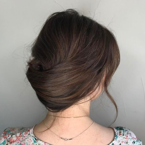 Low French Twist Updo