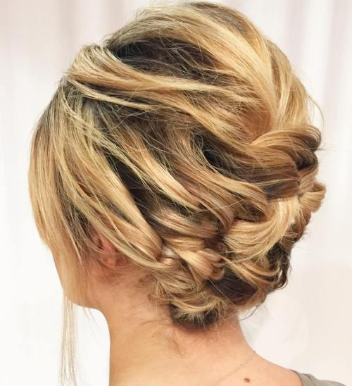 60 updos for short hair your creative short hair inspiration asymmetrical braided updo for short hair pmusecretfo Image collections