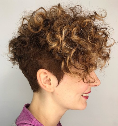 Curly Pixie With Nape Undercut