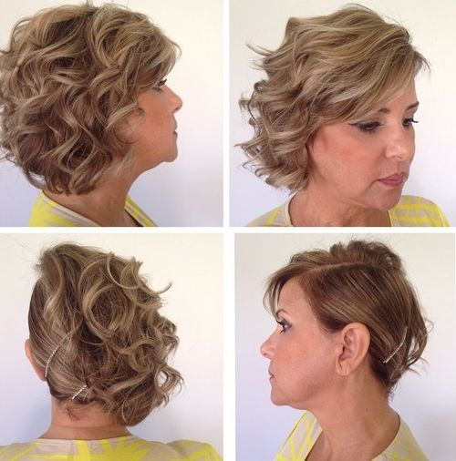 curly updo for bob haircut