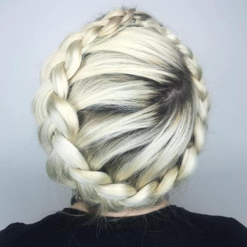 Crown Braid With A Side Part